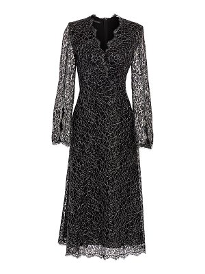 Escada metallic french lace midi dress