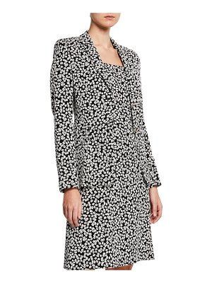 Escada Mini Daisy Jacquard Notched Jacket