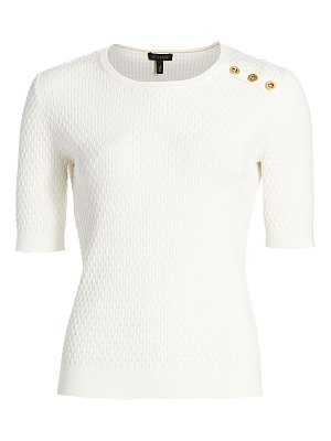 Escada setar basket-weave knit t-shirt