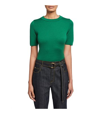 Escada Short-Sleeve Wool Sweater