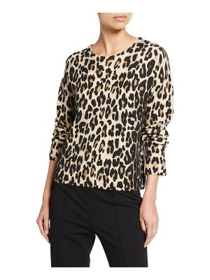 Escada Sinima Leopard Wool Sweater