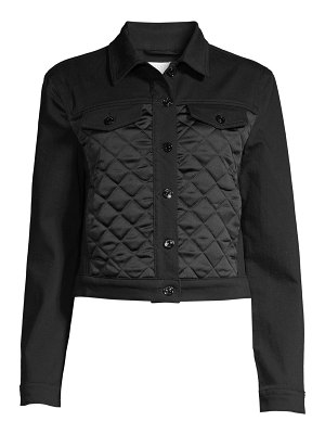 Escada Sport batanja quilted denim jacket