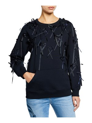 Escada Sport Long-Sleeve Ribbon Hearts Sweater