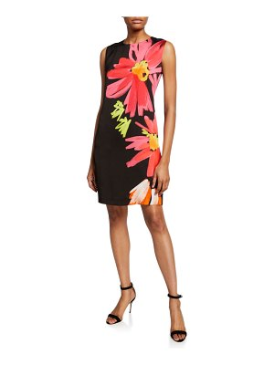 Escada Sport Mrs S Demici Floral Sleeveless Shift Dress