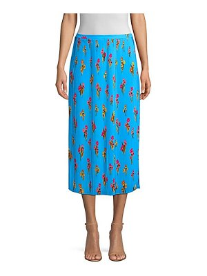 Escada Sport pleated floral midi skirt