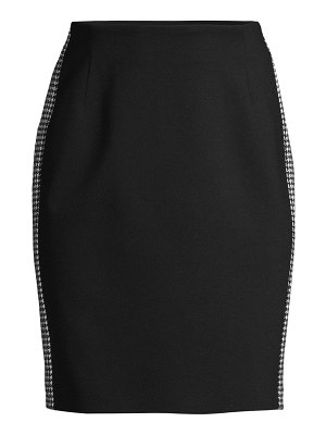 Escada Sport punto milano houndstooth stripe pencil skirt