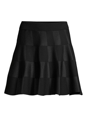 Escada Sport rossi virgin-wool blend checkered flare skirt