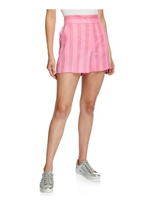 Escada Sport Shadow-Striped Linen Shorts
