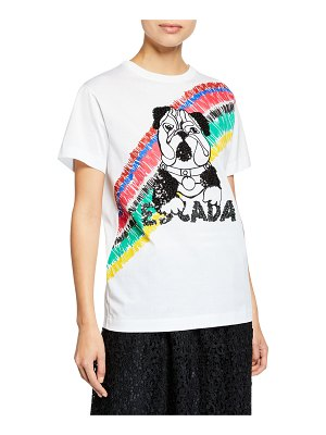 Escada Sport Short-Sleeve Sequin Bulldog Top