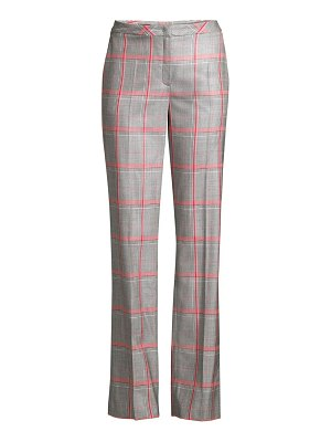 Escada taminotas plaid wide-leg pants