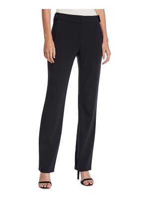 Escada Tanar Straight-Leg Stretch-Wool Pants