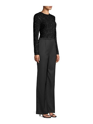 Escada tequina long sleeve sparkle jumpsuit