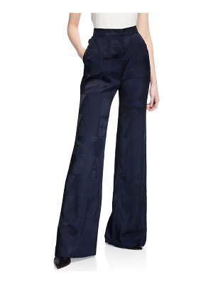 Escada Tibula Satin Logo Trouser