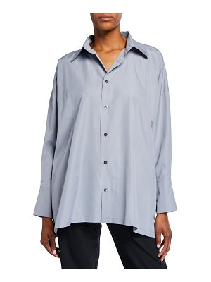 eskandar A-Line Button-Front Shirt