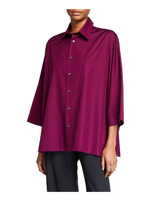 eskandar Cotton Sloped-Shoulder Shirt