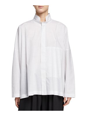 eskandar Double-Collar High-Low Shirt
