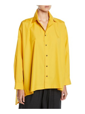 eskandar High-Low Button-Front Shirt