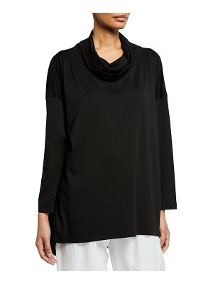 eskandar Long-Sleeve Cowl-Neck Monk's Top T-Shirt