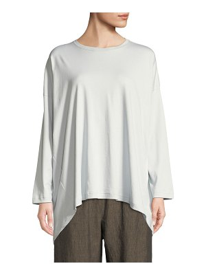 eskandar Long-Sleeve Round-Neck Pima Cotton T-Shirt