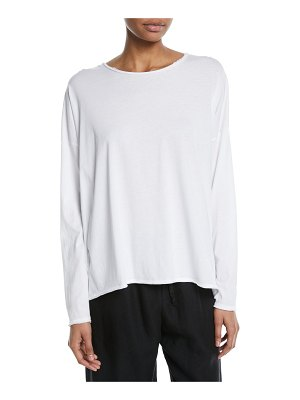 eskandar Long-Sleeve Scoop-Neck Lightweight T-Shirt