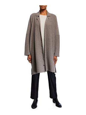 eskandar Long Wide-Knitted Blazer Cardigan
