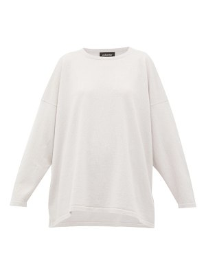 eskandar oversized bateau-neck cashmere sweater