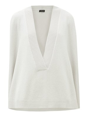 eskandar plunge-neck sleeveless cashmere sweater