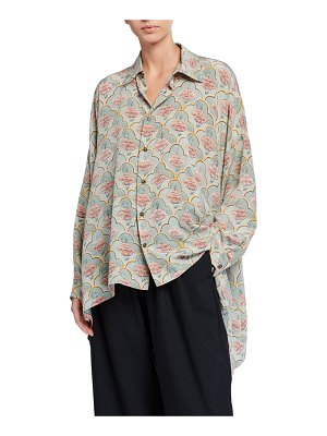 eskandar Printed Silk Shirt