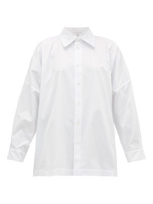 eskandar relaxed cotton-twill shirt