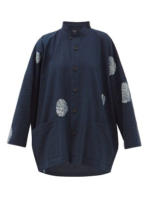 eskandar scattered disc shibori-dyed cotton jacket