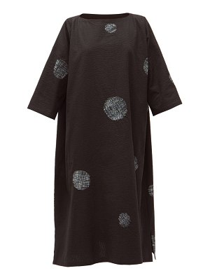 eskandar scattered disc shibori-dyed cotton tunic dress