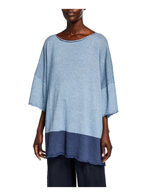 eskandar Short-Sleeve Square Top