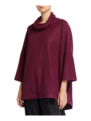 eskandar Sloped-Shoulder Monk Top