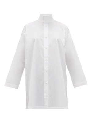 eskandar two-collar cotton-poplin shirt