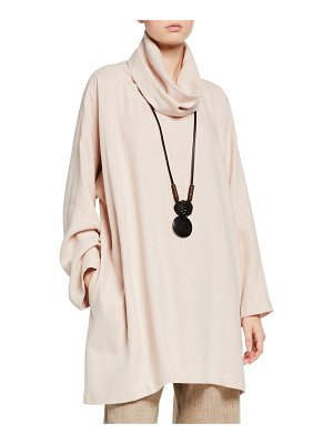 eskandar Wide A-Line Monk Top