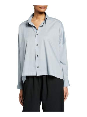 eskandar Wide Button-Front Shirt
