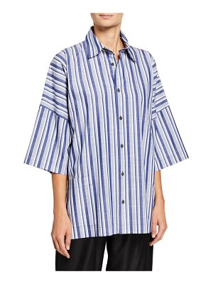 eskandar Wide Short-Sleeve Shirt