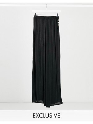 Esmée esmee exclusive beach pants with side buttons in black