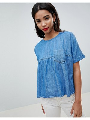Esprit Denim Smock Top