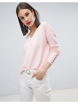 Esprit Lightweight Knitted Oversized V Neck Sweater