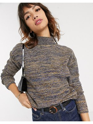 Esprit space dye high neck knitted sweater in multi