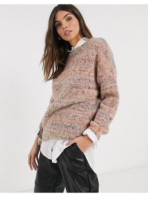 Esprit space dye knitted sweater in mauve-purple