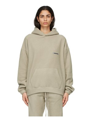 Essentials beige polar fleece hoodie