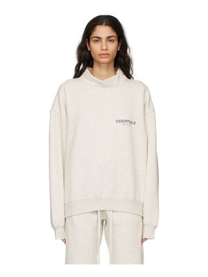 Essentials grey mock neck pullover sweatshirt
