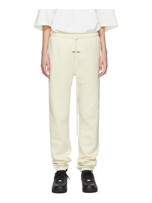 Essentials off-white fleece lounge pants
