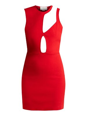 ESTEBAN CORTÁZAR Asymmetric Cut Out Knit Mini Dress