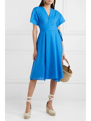 Esteban Cortazar cotton wrap midi dress