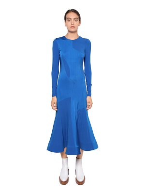Esteban Cortazar Satin bonded viscose jersey midi dress