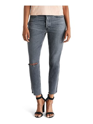 ETICA alex ripped high waist ankle skinny jeans