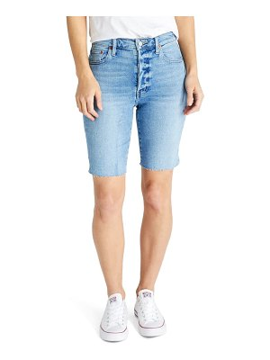 ETICA brandy high waist denim bermuda cutoff shorts
